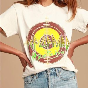 Def Leppard graphic tee xs new